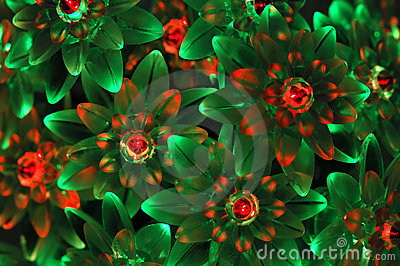 Background from green and red neon lights