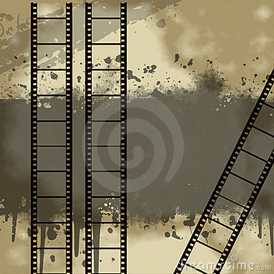 Background with Grunge Filmstrip