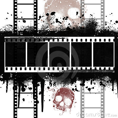 Background with Grunge Filmstrip