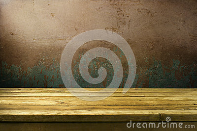 Background with grunge wall