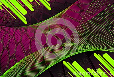 Background of hexagons with diagonal bars in citri