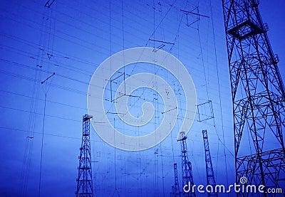 Background hi tech telecommunication technology