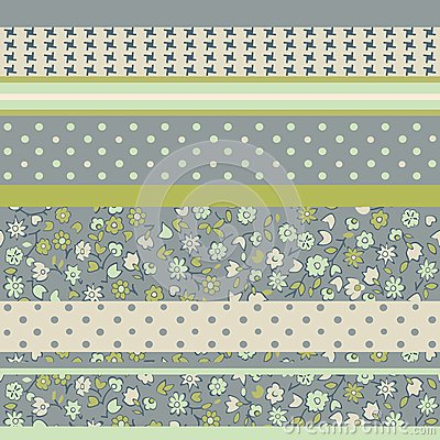 Background from horizontal patches in vector