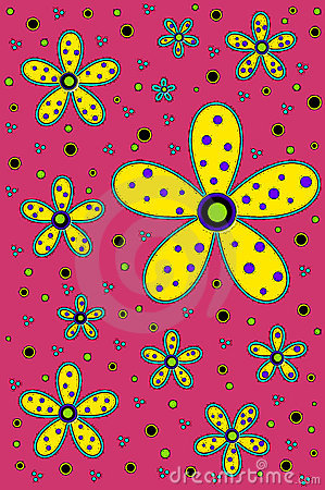 Background Hot Colors Daisy Yellow