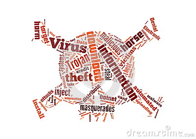 Background illustration of computer virus