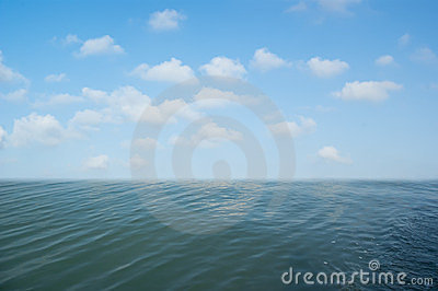 Background image of the blue sky and seas