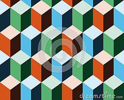 Background imitating 3d cubes