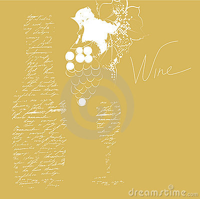 Background with inscription wine