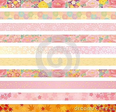 Japanese floral header