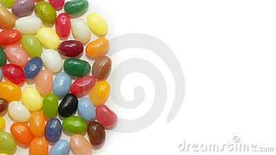Background with jelly beans sweets