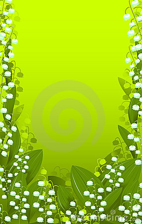 Background lily of the valley