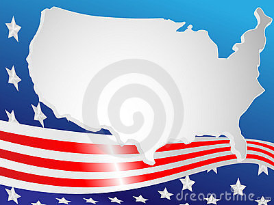 Background made of a flag and map
