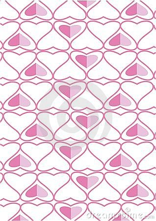 The background made from hearts