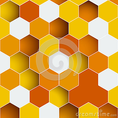 Free Background Made Of Colorful Hexagons Royalty Free Stock Photos - 38299958