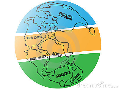 Background map of Pangaea