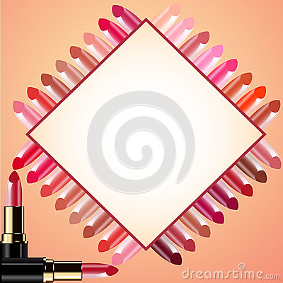 Background for message lipstick and probes