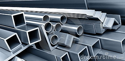 Background metallic pipes