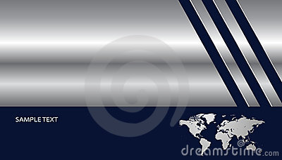 Background metallic silver with world map