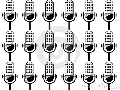 Background of microphones