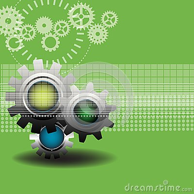 Background with modern gears