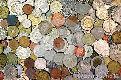 Background with money coins