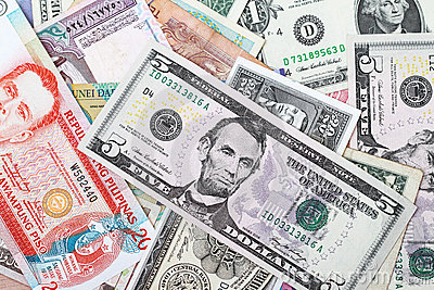 Background of money currency