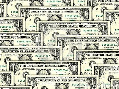 Background of money pile 1 USA dollars