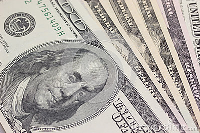 Background with money US 100 dollar bills