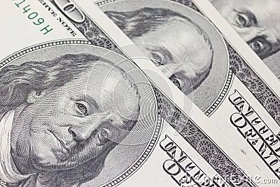Background with money US dollar bills (100$)