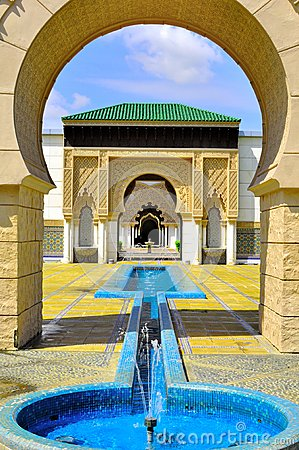 Background of Moroccan gate entrance Editorial Image