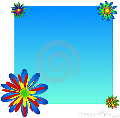 Background with multicolored flowers.