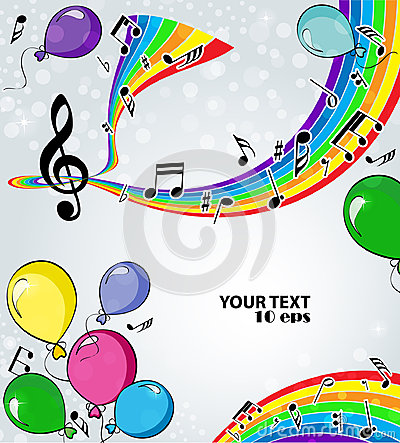 Background music with balloons