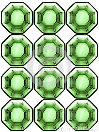 Background from octagonal glass cells