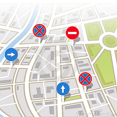 Free Background Of City Map Royalty Free Stock Photography - 22573907