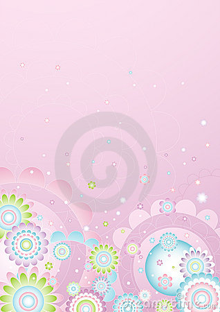 Free Background Of  Flowers,vector  Royalty Free Stock Photos - 1515228
