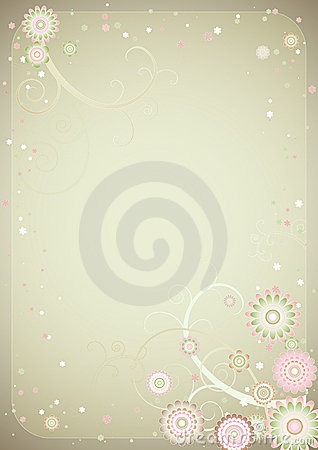 Free Background Of Flowers,vector Stock Image - 1520521