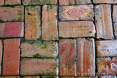 Background of oldclay bricks