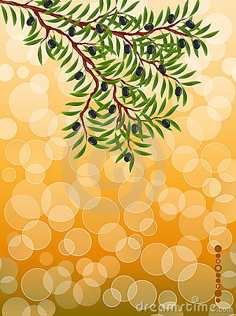 Background with a olive branch