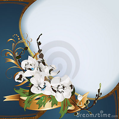 Background with orchids