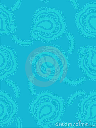 Background with paisley pattern in marine style