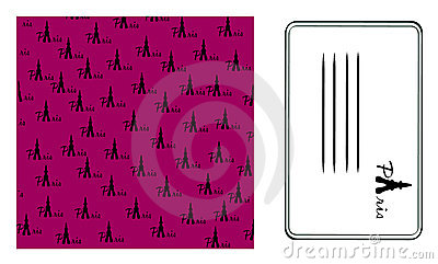 Background paris.calling card. Vector
