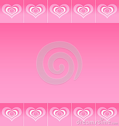 Background with pattern of abstract hearts