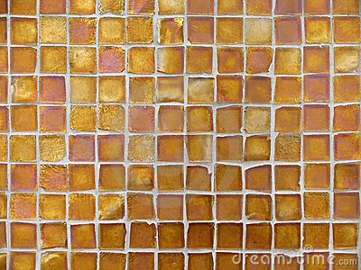 Background Pattern of Orange and Copper Glass Tiles