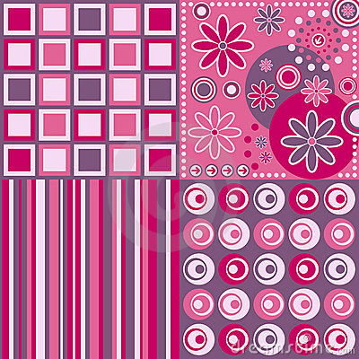 Background pink retro