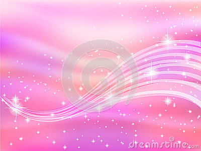 Background pink sky space star