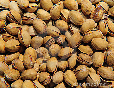 Background of pistachios