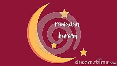 Background of ramadan kareem with month Stock Photo