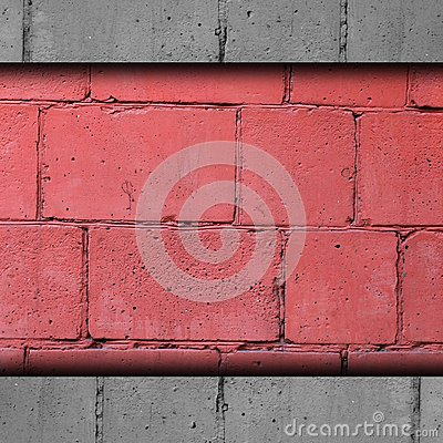 Background red, brick, block wall abstract stone t