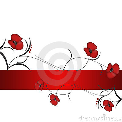 Background With Red Flowers Royalty Free Stock Photo - Image: 17698105