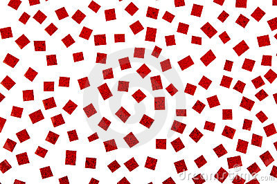 Background of red marbled paper snippets